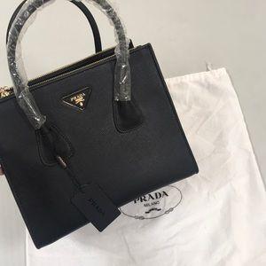 Prada handbag tote black purse NEW
